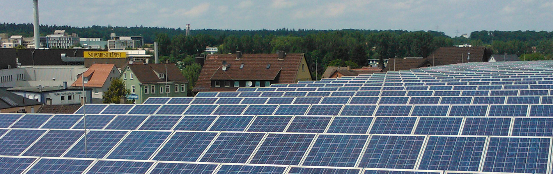 Parkhaus - Aufgeständerte Photovoltaikanlage