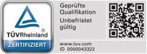 TÜV Rheinland Prüfsiegel Professionelle Photovoltaikreinigung